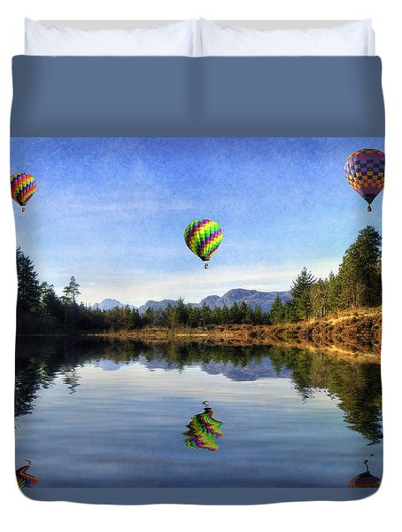 Spring Lake Duvet Cover by Ian Mitchell