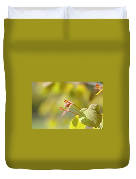 Duvet Cover featuring the photograph Spring Macro2 by Jeff Burgess