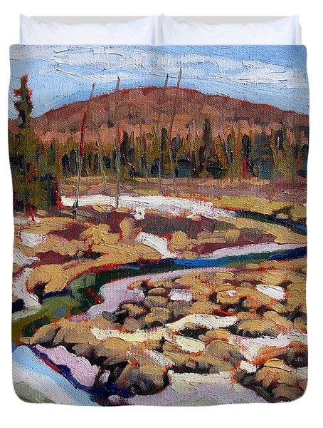 Spring Marsh Algonquin Duvet Cover