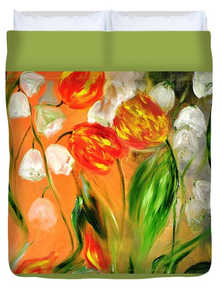 Spring Mood Duvet Cover by Evelina Popilian