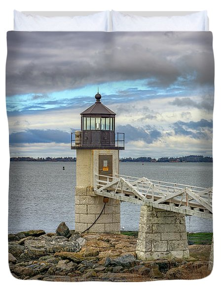 Duvet Cover featuring the photograph Spring Morning At Marshall Point by Rick Berk