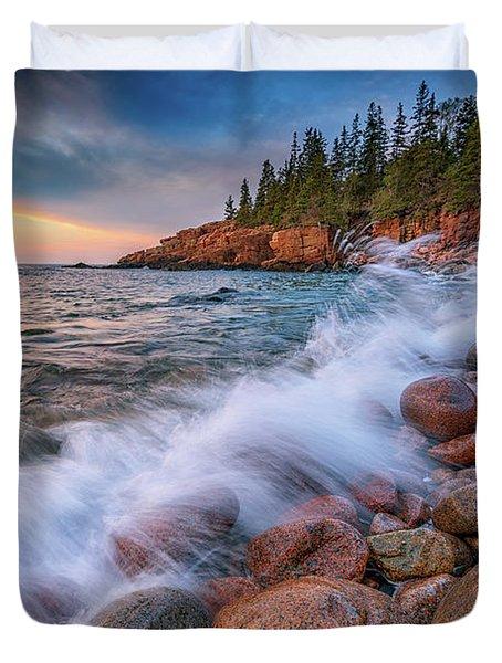 Spring Morning In Acadia National Park Duvet Cover by Rick Berk