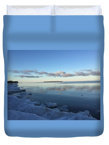 Spring Morning On Lake Superior Duvet Cover