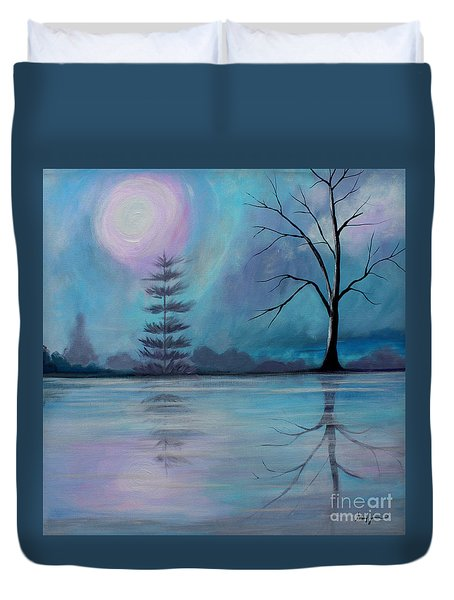 Duvet Cover featuring the painting Spring Morning by Stacey Zimmerman