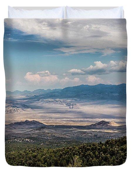 Spring Mountains Desert View Duvet Cover
