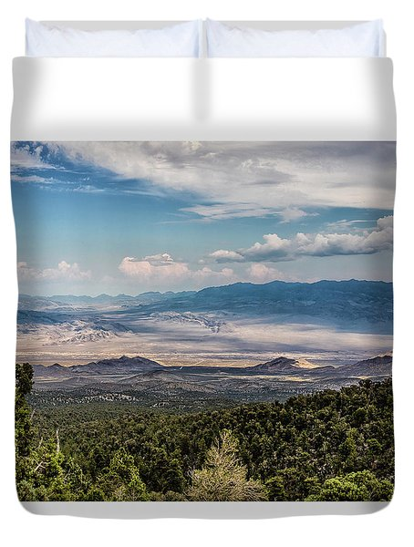 Spring Mountains Desert View Duvet Cover
