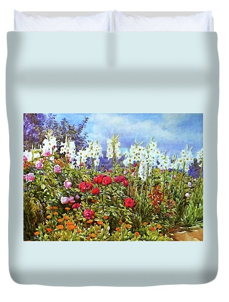 Duvet Cover featuring the photograph Spring by Munir Alawi