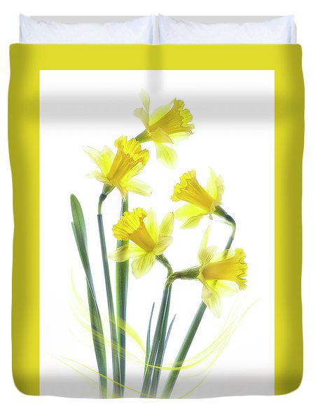 Spring Narcissus Duvet Cover by Jacky Parker