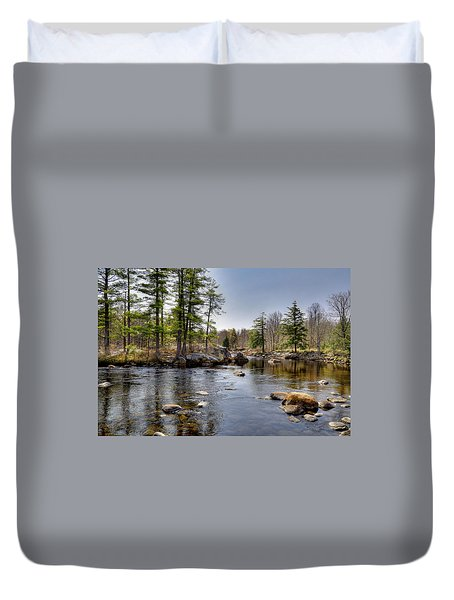 Duvet Cover featuring the photograph Spring Near Moose River Road by David Patterson