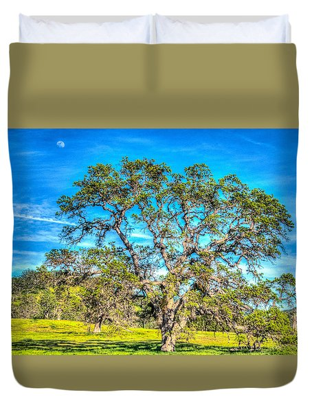 Spring Oak Moon Rise Duvet Cover