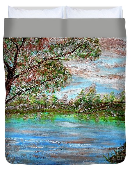 Spring On Arkansas' Greer's Ferry Lake Duvet Cover