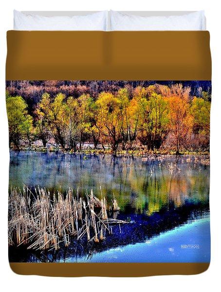 Spring On Great River Road Duvet Cover