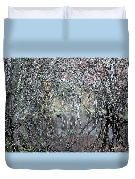 Spring On The Backwater Duvet Cover