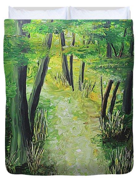 Spring Path Duvet Cover
