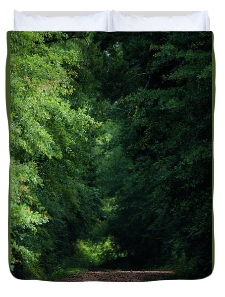 Duvet Cover featuring the photograph Spring Path Of Light by Shelby Young