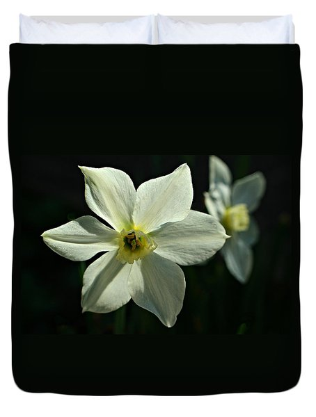 Spring Perennial Duvet Cover by Barbara S Nickerson
