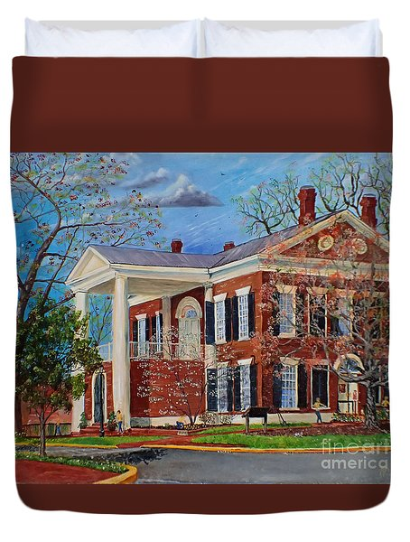 Spring Planting At The Dahlonega Gold Museum Duvet Cover