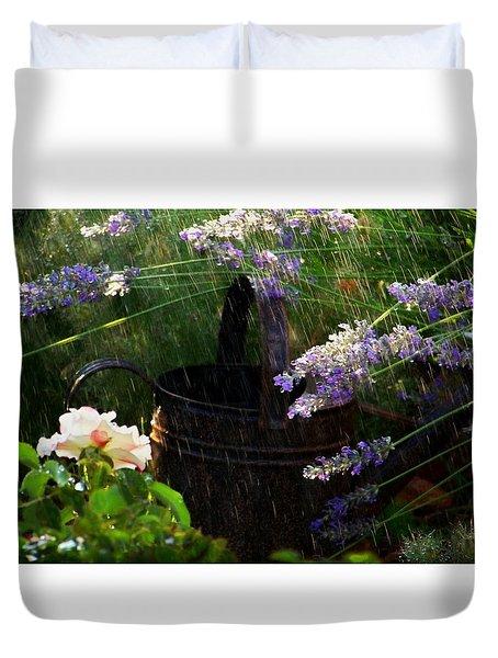 Spring Rain Duvet Cover by Marika Evanson