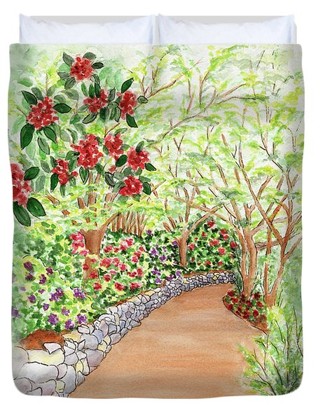 Spring Rhodies Duvet Cover