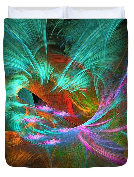 Spring Riot - Abstract Art Duvet Cover