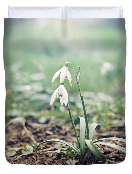 Spring Rising Duvet Cover by Heather Applegate