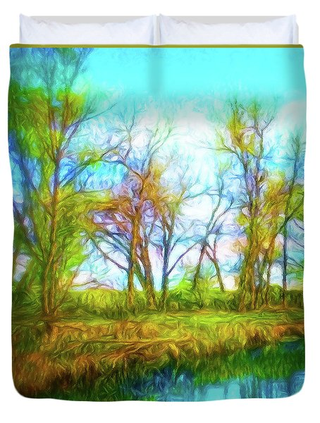 Spring River Rambling Duvet Cover