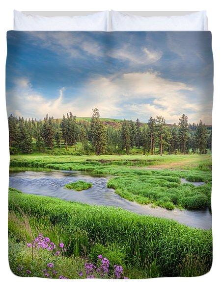 Spring River Valley Duvet Cover