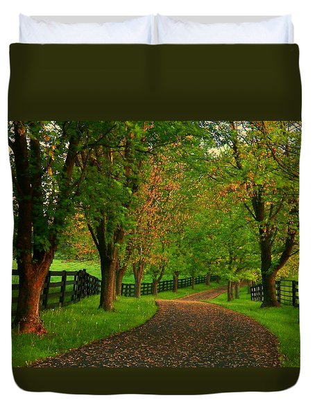 Spring Road Duvet Cover by Joyce Kimble Smith