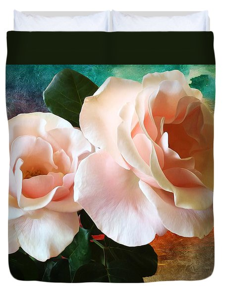 Duvet Cover featuring the photograph Spring Roses by Gabriella Weninger - David