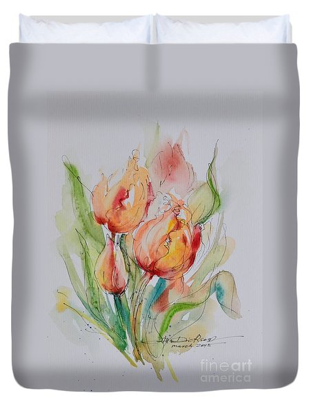 Spring Smiles Duvet Cover