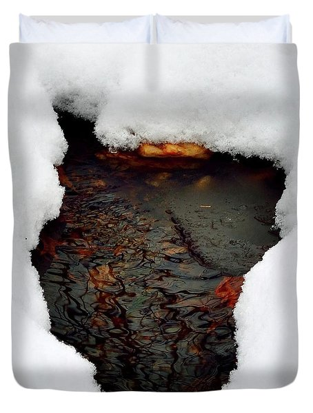 Duvet Cover featuring the photograph Spring Snow II by EDi by Darlene