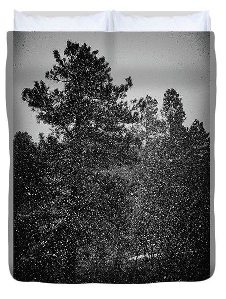 Spring Snowstorm Duvet Cover