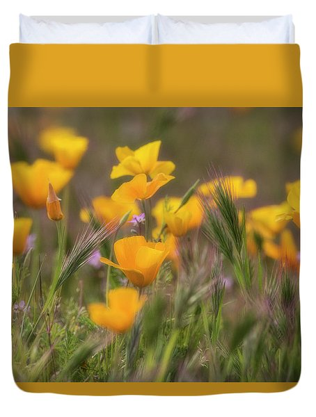 Duvet Cover featuring the photograph Spring Softly Calling  by Saija Lehtonen