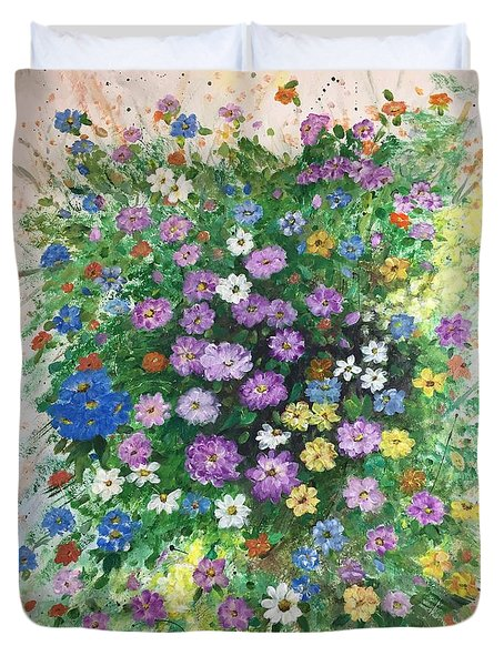 Spring Splendor Duvet Cover by Lucia Grilletto