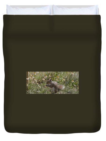 Spring Squirrel Duvet Cover
