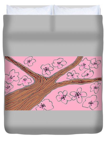 Spring Stained Glass 3 Duvet Cover
