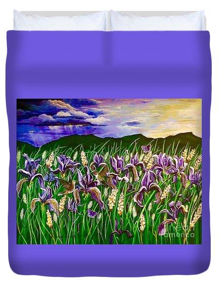 Spring Storm  Iris Fields Duvet Cover