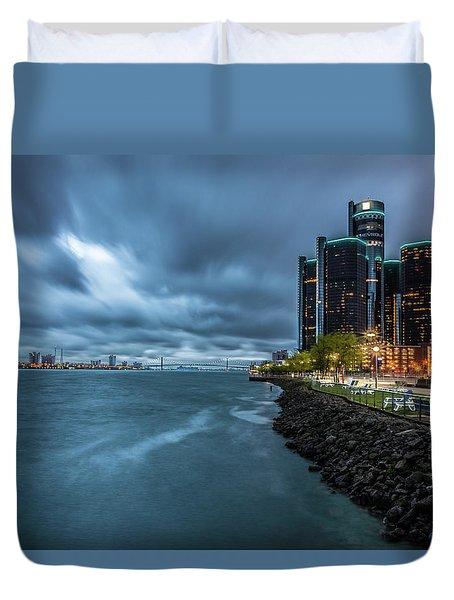 Storm Season In Detroit  Duvet Cover