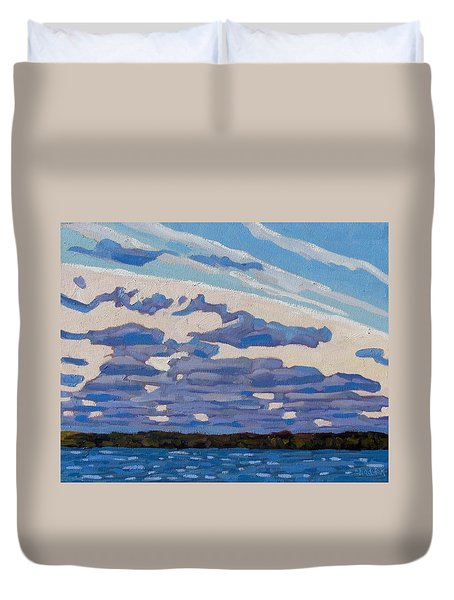 Spring Stratocumulus Duvet Cover by Phil Chadwick