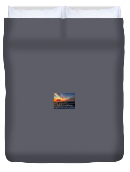 Spring Sunrise Over The Asbury Park Waterfront 2015 Duvet Cover