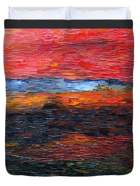 Spring Sunset Duvet Cover