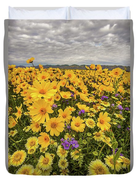 Spring Super Bloom Duvet Cover by Peter Tellone