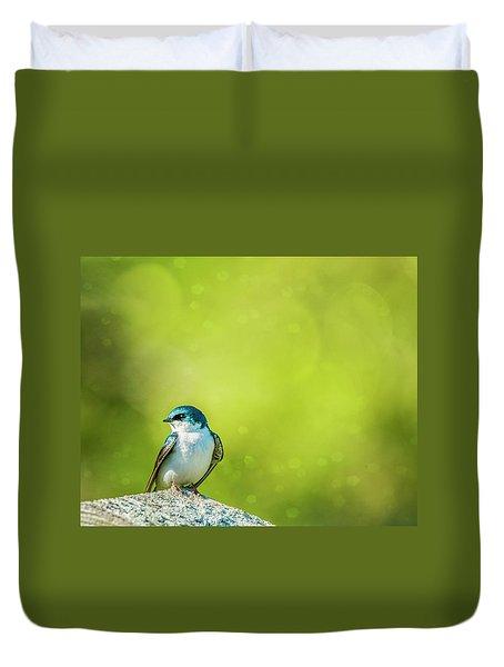 Spring Swallow Duvet Cover