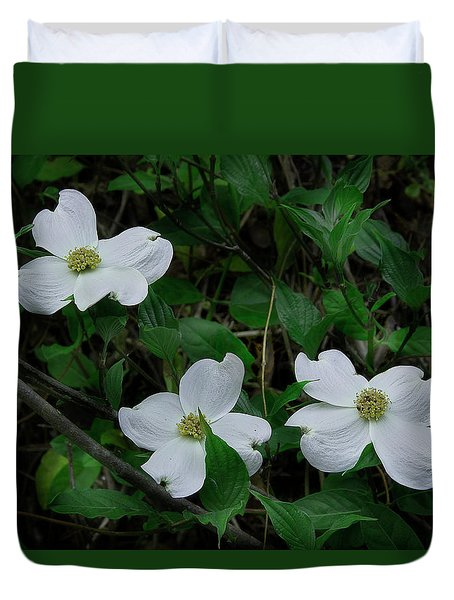 Duvet Cover featuring the photograph Spring Time Dogwood by Mike Eingle