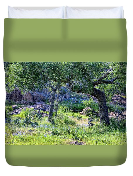Spring Time In Texas Duvet Cover