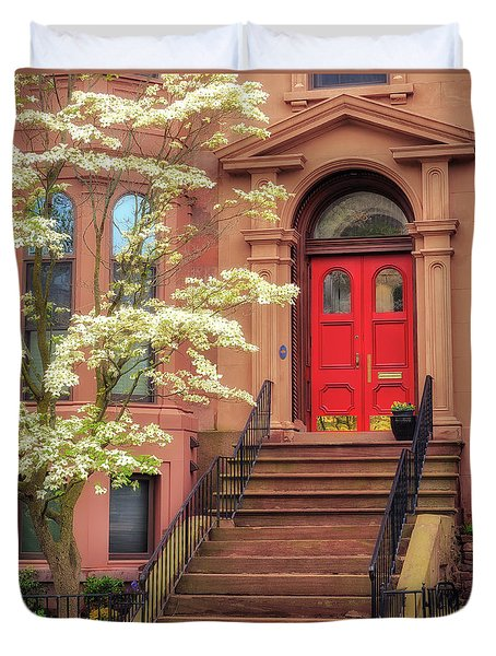 Bushnell Park Brownstone Duvet Cover