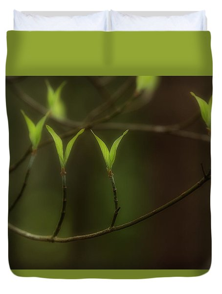 Duvet Cover featuring the photograph Spring Time by Mike Eingle