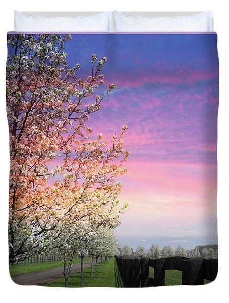 Spring Time On The Farm Duvet Cover