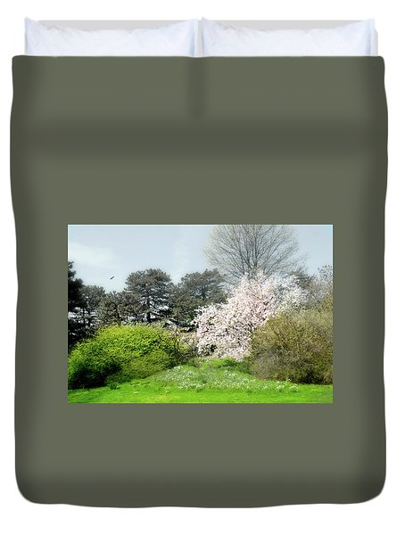 Duvet Cover featuring the photograph Spring Treasures by Diana Angstadt