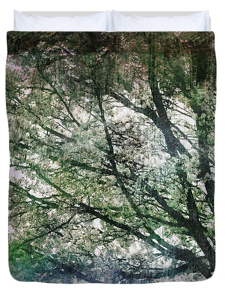Spring Tree Duvet Cover by Gray  Artus